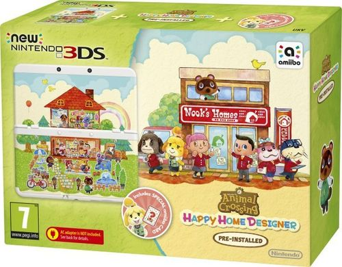 New Nintendo 3DS Blanca + Animal Crossing: Happy Home Designer