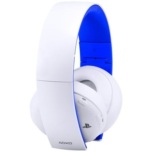 Headset Oficial Sony Gold Wireless 7.1 Surround Blanco