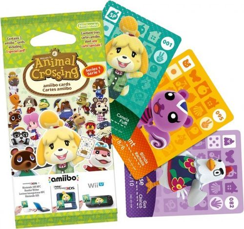 Pack 3 Tarjetas amiibo Animal Crossing Serie 1