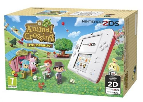 Consola 2DS Blanco/Rojo + Animal Crossing: New Leaf