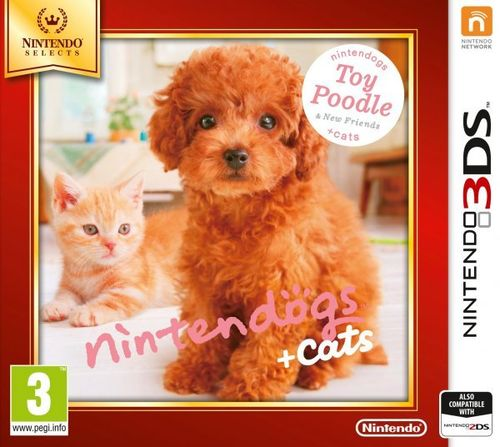 Nintendogs + Cats Bulldog Caniche 3Ds