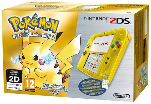 Consola 2DS Amarillo Transparente + Pokemon Amarillo