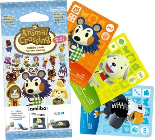 Pack 3 Tarjetas amiibo Animal Crossing Serie 3