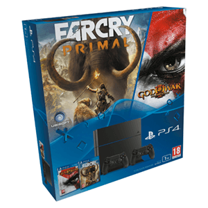 Consola PS4 1TB + Far Cray Primal + God of War + 2 Mandos