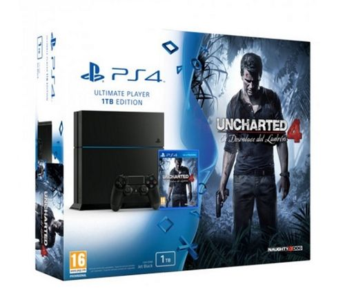 Consola 1TB + Uncharted 4: A Thief's End Ps4