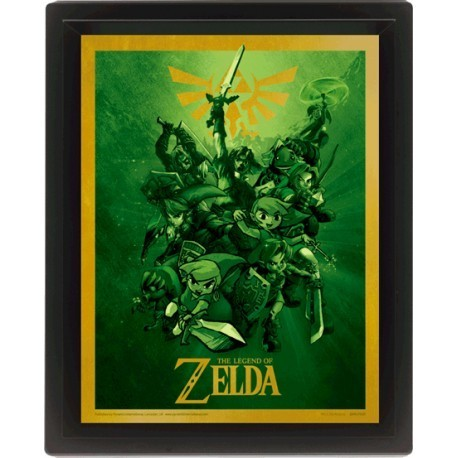 Poster 3D Legend of Zelda