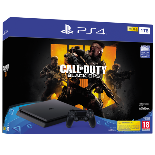 Consola PS4 Slim 1TB + Call of Duty Black Ops 4