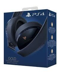 Headset Wirleless Gold Edición 500 Millones PS4