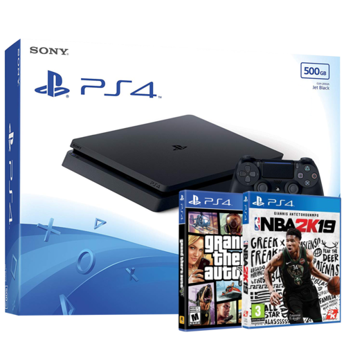 Consola Ps4 Slim 500Gb + NBA 2k19 + GTA V