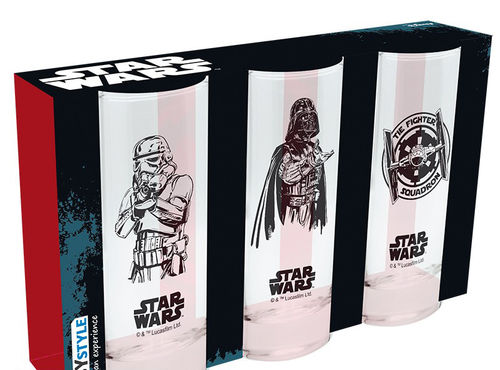 Set 3 Vasos tubo Star Wars