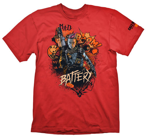 Camiseta Battery Red COD: Black Ops 4