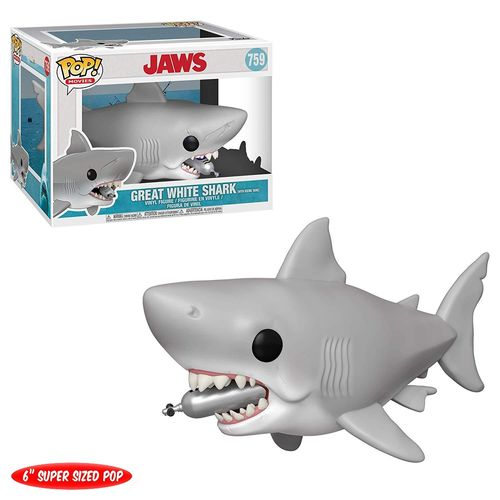 Funko Pop Great White Shark With Diving Tank Jaws 759