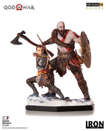 Figura Kratos and Atreus God of War Iron Studios
