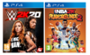 PS4 WWE 2K20 + NBA 2K Playgrounds 2 - PS4