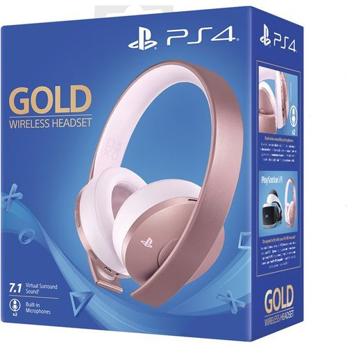 Headset Rose Gold Oficial Sony Gold Wireless 7.1