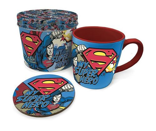 Taza con Posavasos Superman My Super Hero
