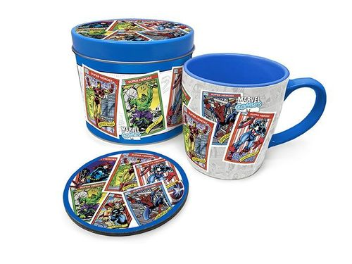 Taza con Posavasos Marvel Retro Collector